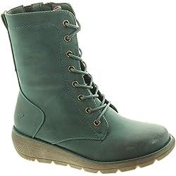 Heavenly Feet Martina - Botas de Encaje para Mujer, Color Morado, Color Verde, Talla 42 EU