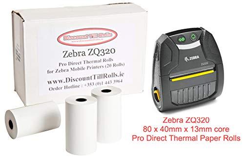 Zebra zq320rollos papel térmica directa 20Roll