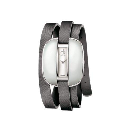 Calvin Klein Orologio Analogico Quarzo Donna con Cinturino in Pelle K2E23620