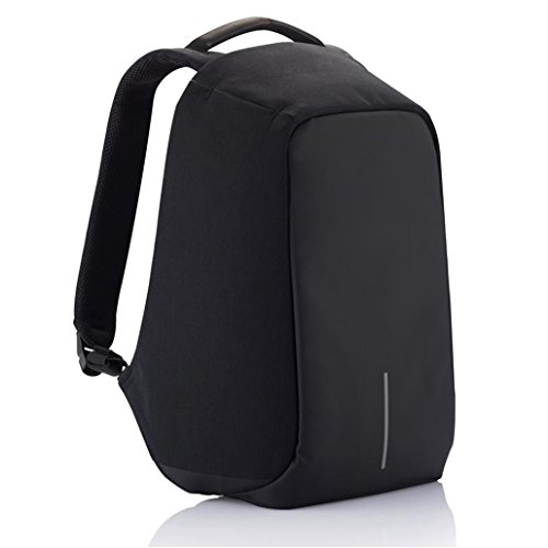 Fur Jaden Black Anti Theft Laptop Backpack for Men with USB Charging Point