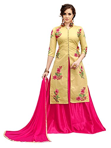 Crazy Party Wear Cotton Indo Western Embroidered Salwar suits for women Semi stitched /UnStitched