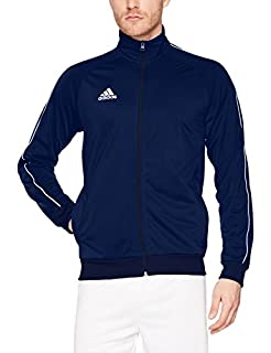 adidas Men's Core 18 Polyester Tracksuit Jacket, Dark Blue/White, X-Large (B076HQQC28) | Amazon price tracker / tracking, Amazon price history charts, Amazon price watches, Amazon price drop alerts