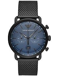 042da758b80 Emporio Armani Reloj Cronógrafo para Hombre de Cuarzo con Correa en Acero  Inoxidable AR11201