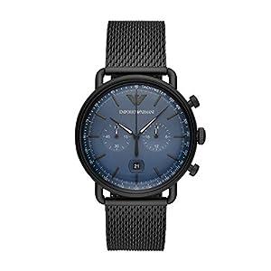 Emporio Armani Reloj Cronógrafo para Hombre de Cuarzo con Correa en Acero Inoxidable AR11201