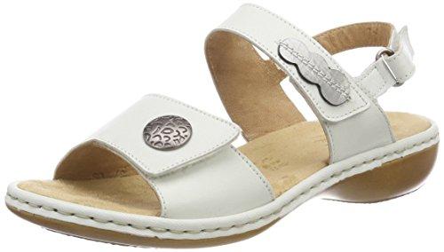 Rieker Damen 659Z3 Geschlossene Sandalen, Weiß (Offwhite/Altsilber), 42 EU