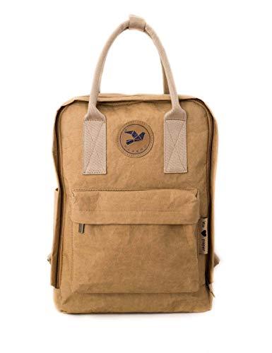 PAPERO ® aus Kraft-Papier   2 in 1 Handtaschen Rucksack   robust, wasserfest ultraminimalistisch -Lynx- ✅ Vegan nachhaltig ♻ Damen Kleiner Backpack Platz für Laptop  FSC® Zertifiziert  , Urban Style