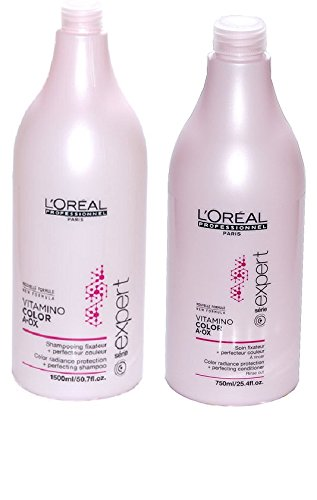 New Serie Expert by L'Oreal Professional Vitamino Colour A.Ox Shampoo & Conditioner (Salon Size)