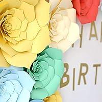 TENDYCOCO 30cm Artificial Paper Flower Handmade Paper Flower for Wedding Party Dessert Station Bridal Events Decoration (Beige)
