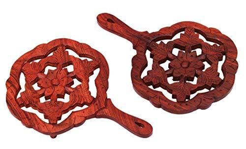 Juego de 2 salvamanteles de madera de palisandro