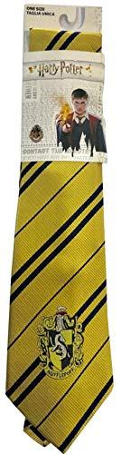Sabor Cravate Adulte Maison de Poufsouffle avec emblème Original 140cm Hufflepuff Harry Potter Necktie
