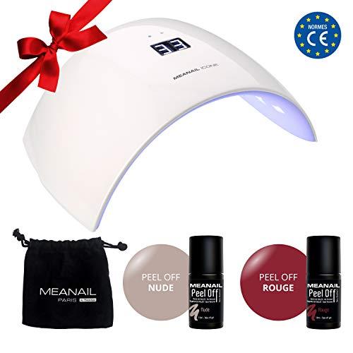 Nagelstudio Set komplett • PEEL OFF Shellac • Maniküre + Pediküre •  Naildesign • 1 UV LED Lampe für Nägel weiß • UV GEL • Nailart • Vegan&Cruelty free - NAGELSCHONEND