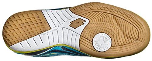 Lotto Tacto Ii 500 Jr, Chaussures de Football Mixte Bébé Bleu / Vert (Blu Avi / Grn Aca)