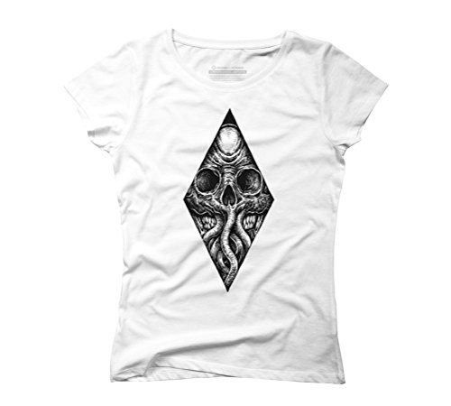 Octoskull Women's Graphic T-Shirt - Design By Humans White