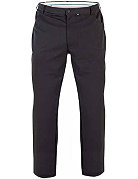 Duke London D555 - Pantalones elásticos en talla grande con cinco bolsillos modelo Beck para hombre