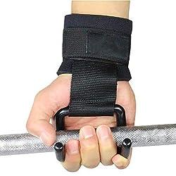 Mingdan water 1 Paar Heavy Duty Stahl Gewicht Lasthaken mit Handgelenk-Straps - Hohe Qualität Stahl und Nylon, verstellbaren Gürtel -Slip Design Magie Buckle Fest Erhöhung der Stabilität