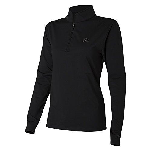 Wilson Pullover Performance für Golferinnen, Thermal Tech, Polyester/Elasthan, Schwarz, Gr. L, WGA700314
