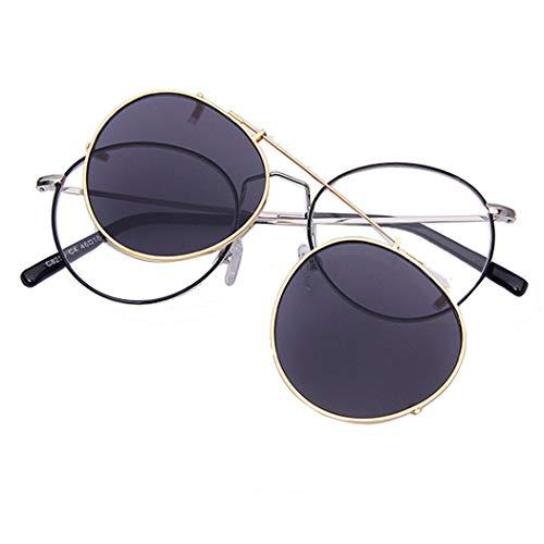 Polarisierte Sonnenbrille Aufsatz für Brillenträger UV400 Sonnenbrille mit Brillen-Etui für Herren und Damen Anti-UVA Sonnenbrillen-Clip