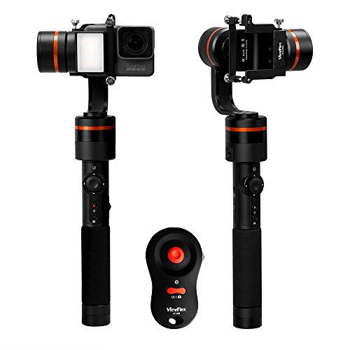 For Sale ViewFlex G Pro Handheld 3-axis Gimbal Video Stabilizer for GoPro 3 , 3+, GoPro 4, GoPro 5 Gopro6, Hero 6, with built-in Auxiliary Light and 360 panoramic video shooting (G Pro+Remote control) on Amazon