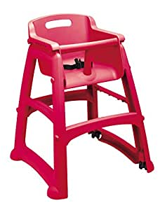 Rubbermaid Sturdy Baby Chair with Feet - Red