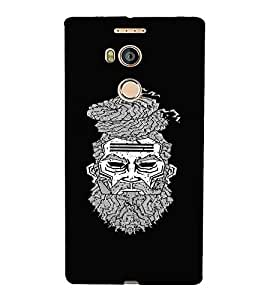 For Gionee Elife E8 Beared Man, Black, Man With turban, Turban Man , Printed Designer Back Case Cover By CHAPLOOS