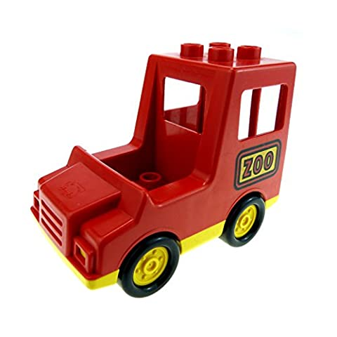 1 x Lego Duplo Auto Zoo Safari PKW Transporter rot gelb C29