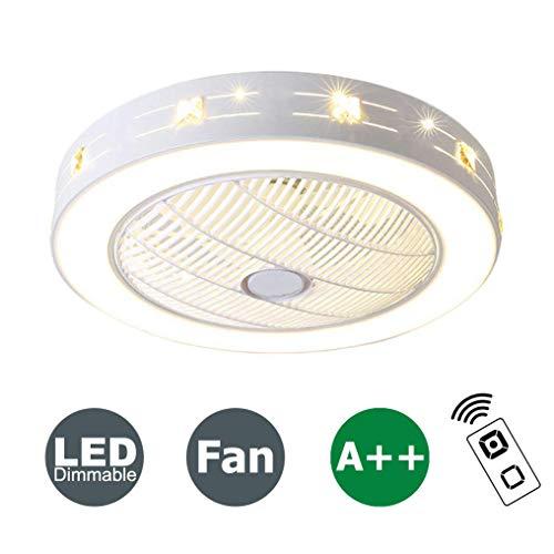 XMYX Ventilador de Techo con Luz y Mando a Distancia Ventilador Silencioso Lámpara de Techo LED Regulable...