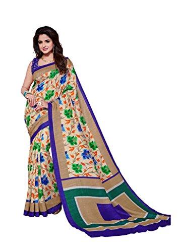 Dream Beauty Fashion Sarees Daily Wear Stripe & Geometric Print Multi-Color Cotton Sari With Blouse (Malgudi-4415)