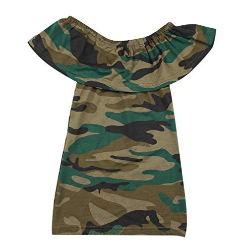 e Kleid Baby Mädchen Camouflage aus Schulter Prinzessin Kleid Kleidung Gedruckt ()
