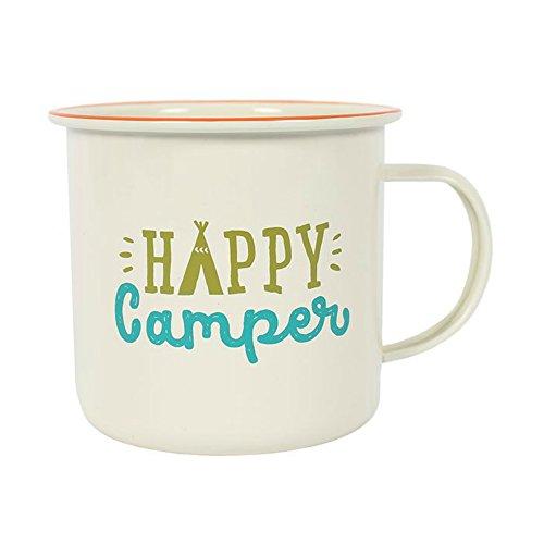 Tasse 'Happy Camper' Fiesta Fun Becher Emaille - Camper Happy Becher