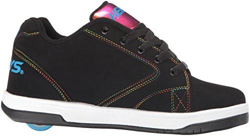 íris Menina Impulsionar Sneaker 2 preto Preto Folha Baixa Arco Heelys 0 vdgvT