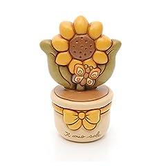 Idea Regalo - thun 8018594256385 vasetto con girasole h16cm