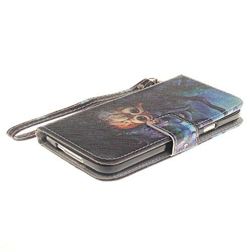 Custodia Samsung Galaxy S5, Sunroyal® Custodia in Pelle, in Piedi la Vista Diario Custodia Copertura di Vibrazione Portafoglio Flip Cover con Chiusura Magnetica per Samsung Galaxy S5 S V I9600 / S5 Ne Cinturino 11