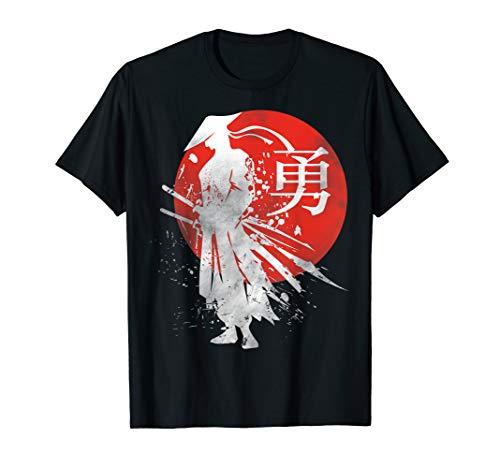 rieger Retro Japan Kalligraphie für Mut T-Shirt ()