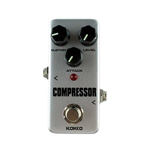 Dooret Mini Kompressor Pedal Tragbare Gitarre Effektpedal 9 V DC 300 mA Musikinstrumente Effekte