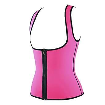 Evedaily Donna Modellante Canottiera Shapewear Anti-allergico Neoprene Snellente Dimagrante Sauna Gilet Fitness Allenamento cardio(rosa S)