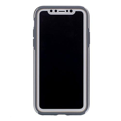 iphone X Hülle, Voguecase Silikon Schutzhülle / Case / Cover / Hülle / [Hochwertiges TPU]+[langlebiger PC]+[Stoßfestes TPU] (WBC) Gel Skin Handyhülle Premium Kratzfest TPU Durchsichtige Schutzhülle fü Song 3-Silber