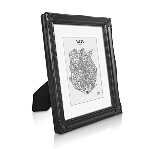 Antik Bilderrahmen 20x25 cm - Shabby Chic mit Passepartout für 13x18 Fotos - Glasfront - 2,5 cm...