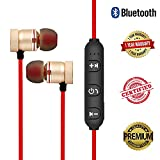 #10: Quastro Magnetic Bluetooth Waterproof Attractive Headphone with Noise Isolation, Integrated Neckband, Thunder Beats Stereo Sound and Hands-free Mic and Controlling Buttons with Magnetic Earbuds , Compatibility Secure Fit for Sports , Gym , Running & Outdoor with Built-in Microphone Supports 100% Original