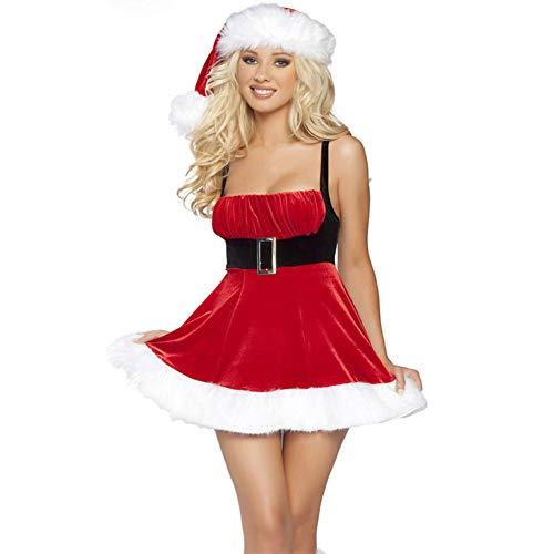 Kostüm Niedliche Weihnachtsfeiern Für - CVCCV Niedliche Prinzessin Kleider MäDchen Sexy KostüMe Weihnachtsfeier KostüMe Baumwolle MaterialgrößE (Rot)