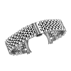 Autulet 14mm-22mm Damen Edelstahl UhrenarmbandUnisex Silber
