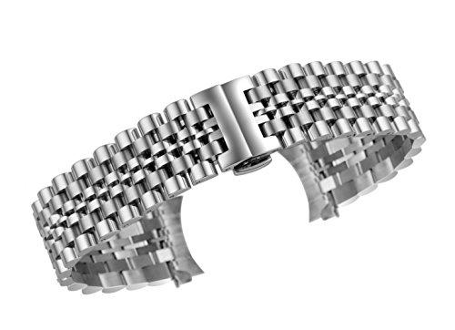 18mm deluxe Jubiläum Stil Uhrenarmband Armbänder in Silber massiv Edelstahl verbinden Verschluss Einsatz