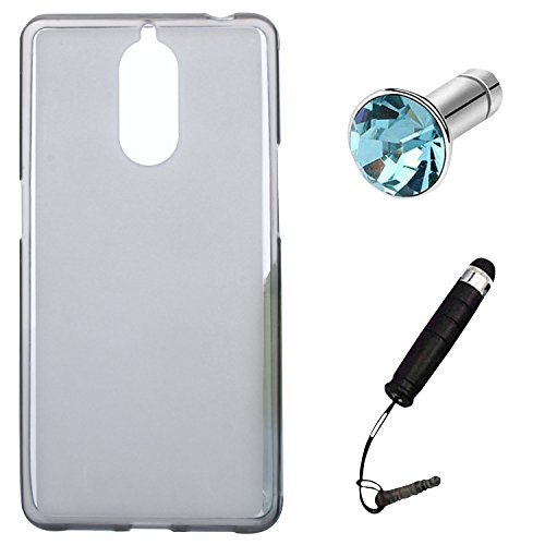 Lusee® Silikon TPU Hülle für Doogee Shoot 1 5.5 Zoll Schutzhülle Case Cover Protektiv Silicone halb transparent grau