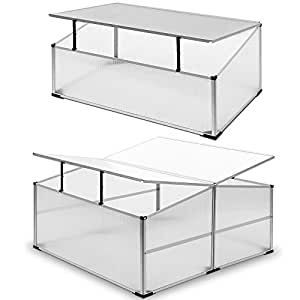 mini serre de jardin serre tomate 110x110cm en aluminium polycarbonate neuf. Black Bedroom Furniture Sets. Home Design Ideas