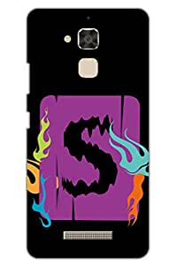 AMAN S With Flame Design 3D Back Cover for Asus Zenfone 3 Max ZC520TL