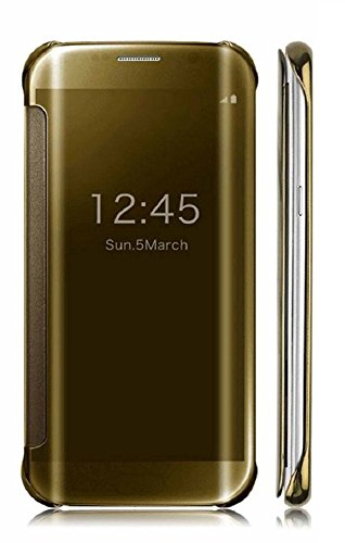 Original Delkart Shine Mirror Flip Cover For Xiaomi Redmi Note 3(Gold)