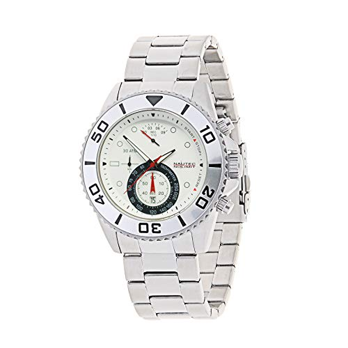 Nautec No Limit Mens Chronograph Quartz Watch with Stainless Steel Strap 129907