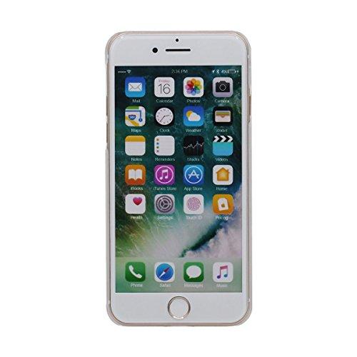 """iPhone 7 Coque Case , Eau Liquide Style Sable Étoiles Coloré Écoulement Conception Housse de Protection Anti Choc pour Apple iPhone 7 4.7"""" Transparente Dur PC Rose"""