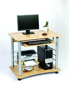 zyon pc schreibtisch mit tastaturablage kiefer optik. Black Bedroom Furniture Sets. Home Design Ideas