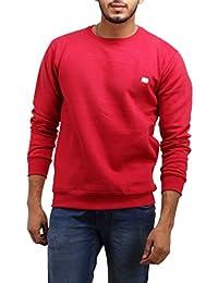 EASY4BUY® Selfdesgin Mens Winter Imported Long Sleeves Slim Warm Sweatshirt(Size-XL)(Red)