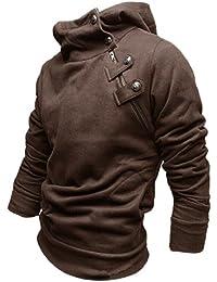 Gleader de cafe de la chaqueta de la capa encapuchada de la manera de Corea del Sur los hombres de color M